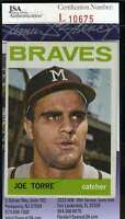 Joe Torre 1964 Topps Jsa Coa Hand Signed Authentic Autographed