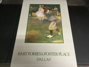 """""""BART FORBES AT THE POSTER PLACE""""  DALLAS GOLF LITHOGRAPH PRINT  24"""" X 36"""""""