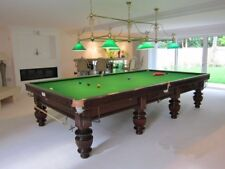 New listing Beautiful Antique Snooker/Billiard Table Full Size Wide Heavy Fluted Turned Legs