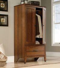 Wardrobe Armoire Storage Closet Cabinet Bedroom Furniture Wood Clothes  Organizer