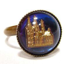 Bronze Modeschmuck-Ringe aus Glas