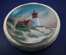 Naucet Light~Cape Cod Nat'l Seashore Lighthouses Of America Danbury Mint 1993