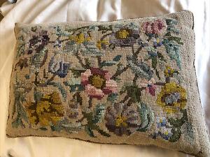 """Antique Velvet & Tapestry Cushion 15"""""""