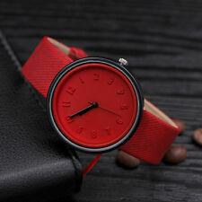 Unisex Moda para Mujer Hombre Reloj Acero Inoxidable Lona Cuarzo Niño de Pulsera