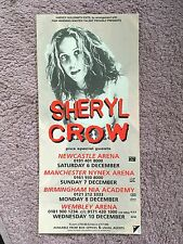 Sheryl Crow RARE Concert Flyer