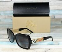 BURBERRY BE4160 34338G Black Grey Gradient 58 mm Women's Sunglasses