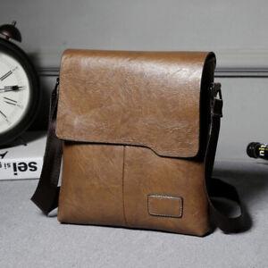 Men's Leather Cross Body Bag Messenger Shoulder Book Bags School Satchel Vintage