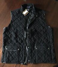 Polo Ralph Lauren Blackwatch Polo Team Equestrian Black Quilted Vest Jacket Xxl