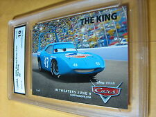 THE KING 2006 DISNEY PIXAR CARS # 9 GRADED 10 L@@@K