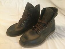 Diesel Boots Builder Men's Size 10 Brown Leather Lace Up Ankle