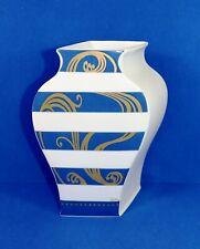 XL Rosenthal VASE Sakura Kado Tadao Amano Studio-line weiß blau gold 90er Jahre