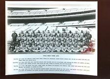 1966 AFL Football New York Jets Team Issued 8 X 10 Photo With Joe Namath