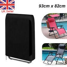 Sun Lounger Folding Recliner Chair Portable Reclining Garden Outdoor Seat Bed