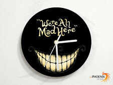 Cheshire Cat - We're All Mad Here - Alice in Wonderland - Wall Clock