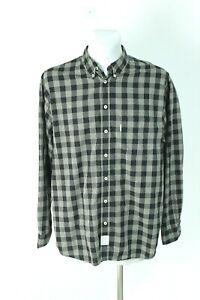 Marc O'Polo multicoloured check casual regula fit button-up men shirt size EU XL