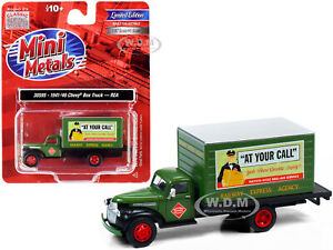 """1941-1946 CHEVROLET BOX TRUCK """"REA"""" GREEN 1/87 (HO) BY CLASSIC METAL WORKS 30595"""