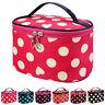 Womens Polka Dot Women Multifunction Travel Cosmetic Bag Makeup Case Pouch
