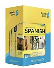Rosetta Stone Learn Spanish Bonus Pack Brand New Sealed