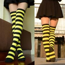 Black and Yellow Striped Over the Knee Socks Costume Thigh-High Ladies Costume