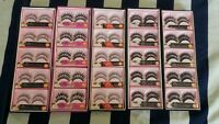 100 PAIRES FALSE EYELASHES FOR SALON MODEL AND MAKEUP ARTIST JOBLOT WHOLESALE