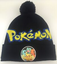 Nintendo Pokemon Pikachu Poke Ball Beanie Game Winter Ski Knit Hat Cap Black OS