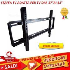 """STAFFA TV FISSA MURO DA 37"""" A 63"""" ATTACCO VESA 600X400MM PESO MAX 80KG"""