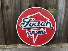 FODEN VEHICLES Cast Iron Round Sign Wall Plaque British Truck & Bus Logo Garage