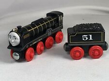Thomas and Friends Hiro & Tender Train Engine Lot Wooden Railway  Black Red