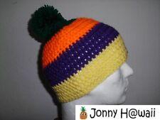 JONNY HAWAII elegante Crochet cap Caniche Gorra hecho a mano Rayas anchas
