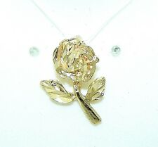 k Gold 1.2 g Rose Flower Pendant Solid 14