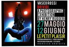 VASCO ROSSI Exibition BRIVIDI Italia promo flyer 15 x 10 cm mini poster