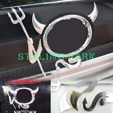 SUV Chrome Devil Rear Hood Logo Badge Emblem Trunk Lid Tail Gate Fender Sticker