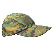 Tactical Baseball Cap - Woodland Digital Camo - Sun Peak Hat Army Airsoft New