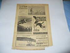 RIVISTA LA SETTIMANA DI CACCIA E PESCA N. 31 1937