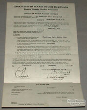 Orig. 1930-31 E.C.H.A. Leslie Beatty Signed Contract