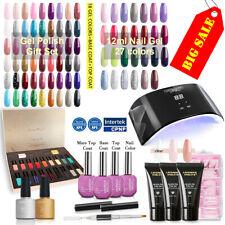Lavender Violets Uv Lamp Gel Nail Polish Poly Gel Base/Top Coat Set Color Kit