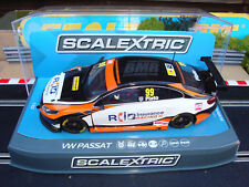 NEW BOXED SCALEXTRIC VW PASSAT BTCC 2015 TEAM BMR No99 C3737 WITH LIGHTS AND DPR