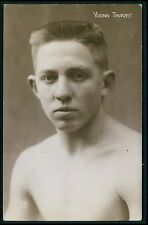 Young Travet Europe Sports Boxing original old 1920s photo postcard
