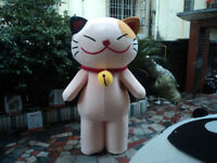 Christmas Lovely Smiley Cat Mascot Costume Cosplay Party Clothing Carnival Adult