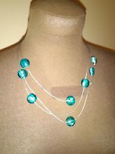 Necklace with turquoise blue stones