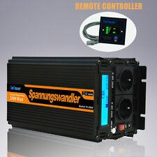 Inversor Convertidor 2000W DC 24V a AC 220V MAX 4000 Watt Inveretr LCD Remote