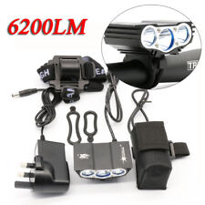 6600LM T6 LED Bicycle Bike Lights Lamps Headlight Flashlight + Battery + Charger
