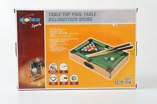 Solex Sports Billiardtisch Micro Table Pool Neu mini Sport Holzdesign Billard