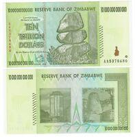 Zimbabwe Cat# 88 10 Trillion dollars Authentic UNC 2008 50 & 100 trillion series