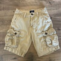 AMERICAN EAGLE OUTFITTERS Classic Khaki Tan Cargo Casual Shorts Men's Size 26
