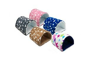 Guinea Pig and small animal fleece tunnel with two WATERPROOF pads.