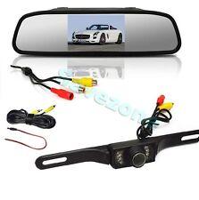 "Car Rear View Kit 7LED Number Plate Reversing Camera + 4.3"" LCD Mirror Monitor"