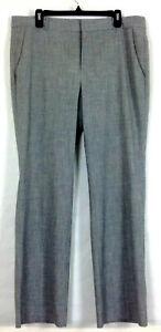 Banana Republic Womens Logan Pants Trouser Gray Straight Wide Leg Size 14