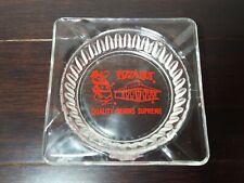 Vintage Red Print Pizza Hut Glass Ashtray Advertising Cigarette Smoking 60-70's