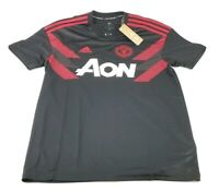 $60 Adidas Men's Manchester United Home Pre-Match Soccer Jersey Black/Red Large